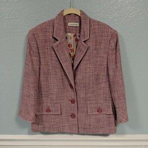 Amanda Smith Pink Jacket Blazer 12